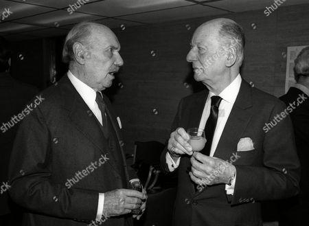 1982 Evening Standard Drama Awards Sir John Gielgud with Sir Ralph Richardson