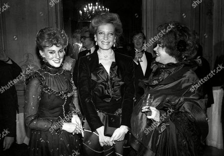 1982 Evening Standard Film Awards Lynne Frederick with Princess Michael of Kent and Lady Patricia Rothermere