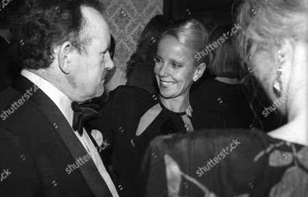 December 1983 Evening Standard Film Awards Georgina Hale with Colin Blakely