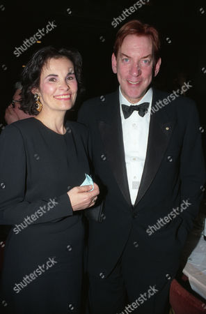 Stock Photo of the British Academy of Film and Television at the Grosvenor House Hotel Donald Sutherland with His Wife Francine Racette