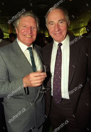 Evening Standard Drama Awards at the Savoy Denis Quilley with Nigel Hawthorne