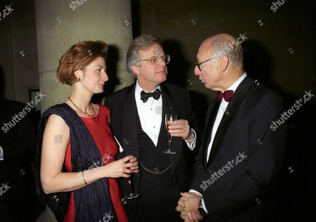 Stock Picture of Turner Prize at the Tate Gallery Millbank Michael and Francesca Grade with Maurice Kaufmann