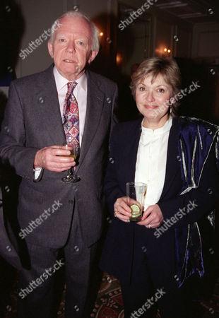 Evening Standard Drama Awards at the Savoy Peter Barkworth with Hannah Gordon