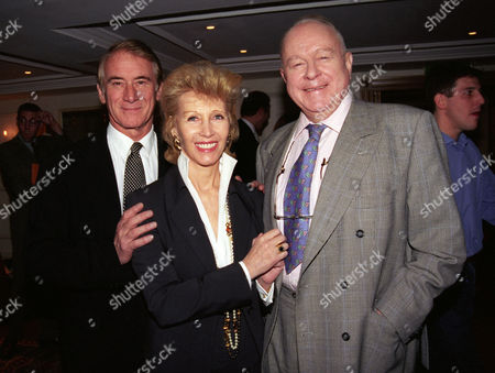 Evening Standard Drama Awards at the Savoy Keith Baxter with Elizabeth Harris (aitken) and Ned Sherrin