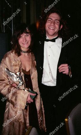 Evening Standard Film Awards at the Savoy Katrin Cartlidge with Her Award For Best Actress - 'Career Girls' and Her Boyfriend Peter Gevisser