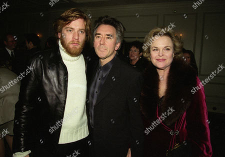 Evening Standard Drama Awards at the Savoy Ewan Mcgregor with His Uncle Denis Lawson and His Partner Sheila Gish