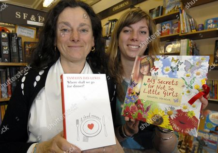 TV chef and cookery writer Tamasin Day Lewis with her daughter Miranda Shearer also an author both signing books