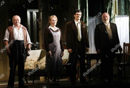 1st Night Curtain Call For' in Celebration' at the Duke of Yorks Theatre St Martin's Lane and Party at Jewel Maiden Lane London Tim Healy Dearbhla Molloy Orlando Bloom and Ciaran Mcintyre