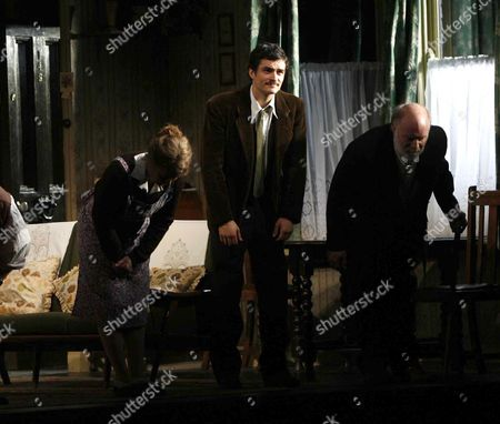 1st Night Curtain Call For' in Celebration' at the Duke of Yorks Theatre St Martin's Lane and Party at Jewel Maiden Lane London Dearbhla Molloy Orlando Bloom and Ciaran Mcintyre