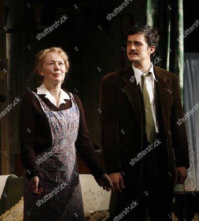 1st Night Curtain Call For' in Celebration' at the Duke of Yorks Theatre St Martin's Lane and Party at Jewel Maiden Lane London Dearbhla Molloy and Orlando Bloom
