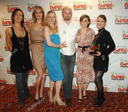 Sony Ericsson Empire Awards 2006 at the Hilton London Metropole Best Horror Film - the Descent Alex Reid Saskia Mulder Neil Mardhall Nora-jane Noone Shauna Macdonald and Myanna Buring