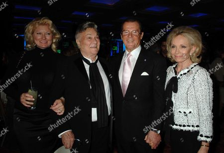 Sony Ericsson Empire Awards 2006 at the Hilton London Metropole Tony Curtis with His Wife Jill Vandenberg Curtis and Roger Moore with His Wife Kiki Tholstrup