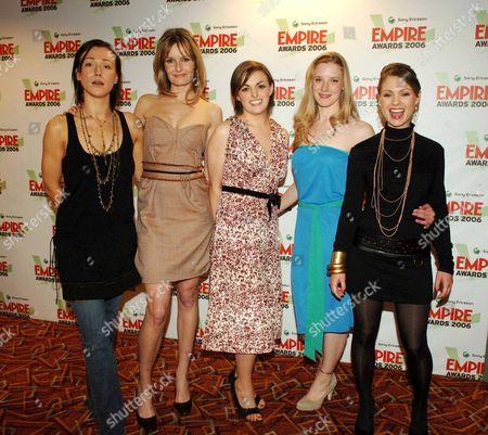 Sony Ericsson Empire Awards 2006 at the Hilton London Metropole Best Horror Film - the Descent Alex Reid Saskia Mulder Nora-jane Noone Shauna Macdonald and Myanna Buring
