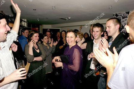the 2007 Man Booker Prize at the Guildhall and Random House Afterparty at Soho House Anne Enright Winner of the Man Booker Prize is Congratulated by the Other Guests