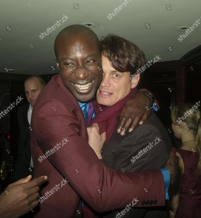 After Party For Blood Diamond Held by Amnesty International at the Bar at the Dorcester Hotel Park Lane Oswald Boateng and Matthew Mellon