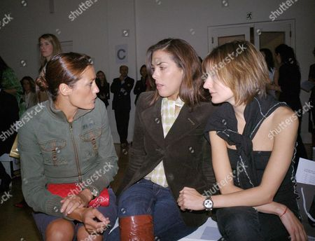 Allegra Hick's First Catwalk Show As Part of On/off at the Royal Academy in Burlington Gardens Yasmin Lebon Jessica De Rothschild
