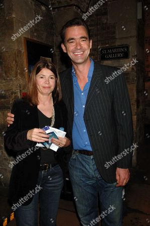 Party For the 1st Night of As You Desire Me at the Crypt of St Martins in the Fields Playing at the Playhouse Theatre Richard Lintern with His Wife