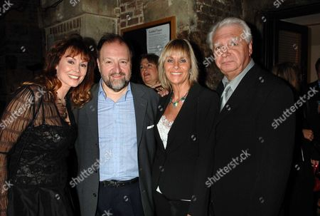 Party For the 1st Night of As You Desire Me at the Crypt of St Martins in the Fields Playing at the Playhouse Theatre Duncan Weldon and Anne Sidney with Linda Hayden & Paul Elliott