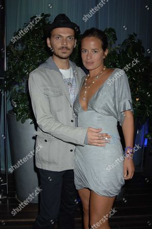 At Evening at the Sanderson in Aid of Clic Sargent Jade Jagger and Matthew Williamson