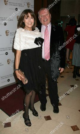 Stock Picture of Bafta Kids Awards at the Park Lane Hilton London Elizabeth Sladen and Stuart Money