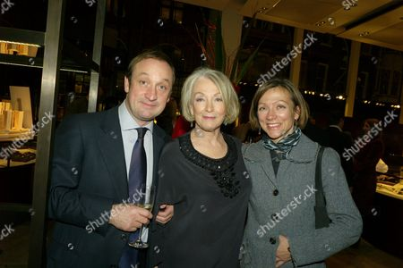 Book Party For 'Things I Wish My Mother Had Told Me' at Asprey New Bond Street the Author Lucia Van Der Post (c) with Her Son David & Daughter Emma