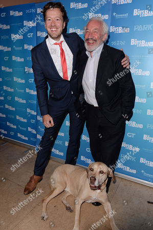 London UK 4th October 2016: Jez Bond with His Dog Hazel, Simon Callow at the 'boys in the Band' Press Night Afterparty at the Park Theatre, London UK, October 4th 2016