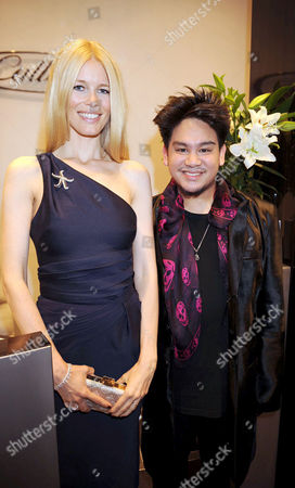 Stock Photo of Calleija Jewellers Opening Party at the Royal Arcade Old Bond Street Claudia Schiffer and Prince Haji Abdul Azim of Brunei