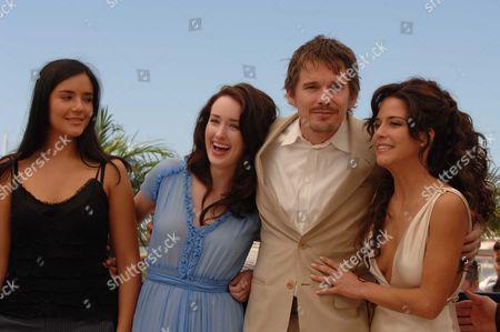 2006 Cannes Film Festival Photocall For Fast Food Nation Catalina Sandino Moreno Ashley Johnson Ethan Hawke & Wilmer Valderamma