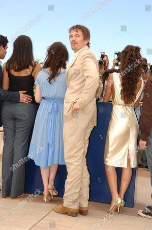 Stock Photo of 2006 Cannes Film Festival Photocall For Fast Food Nation Ashley Johnson Ethan Hawke & Wilmer Valderamma