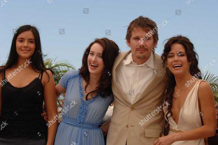 Stock Picture of 2006 Cannes Film Festival Photocall For Fast Food Nation Catalina Sandino Moreno Ashley Johnson Ethan Hawke & Wilmer Valderamma