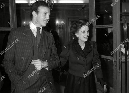 Cartier Cocktail Party in Bond Street John Welch with Margaret Duchess of Argyll