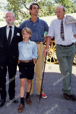 Charity Premiere of 'Danny the Champion of the World' with Afterparty at Stringfellow's Nightclub Roald Dahl with the Stars of the Film Cyril Cusack with His Son-in-law Jeremy Irons and Grand-son Samuel Irons