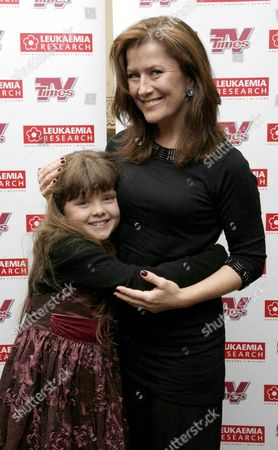 Stock Image of Christmas Carols with the Stars in Aid of Leukaemia Research at the Royal Albert Hall Kazia Pelka with Her Daughter Theodora ( Heartbeat)