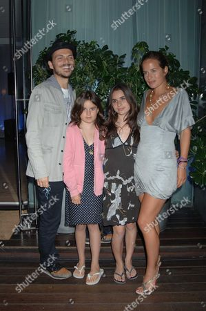 At Evening at the Sanderson in Aid of Clic Sargent Jade Jagger with Her Daughters Amber and Assisi and Matthew Williamson