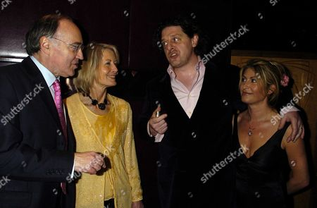 Marco Pierre White & Frankie Dettori's Fundraiser For the Conservative Party Election Campaign Fund at Frankies Resturant in Knightsbridge Michael & Sandra Howard with Marco Pierre & Mari White
