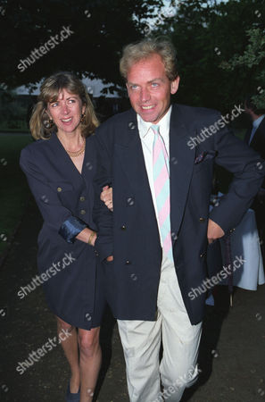 Garden Party in Carlyle Square Patrick Ryecart with His Wife Lady Marsha Fitzalan Howard
