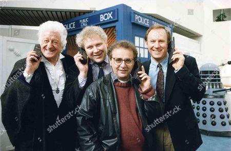 Dr Who's Sylvester Mccoy Peter Davidson Tom Baker and Jon Pertwee