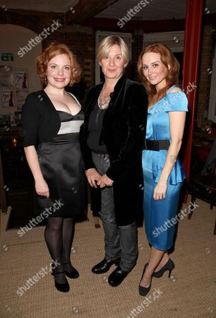 First Night of 'Talent' at the Menier Chocolate Factory London Bridge Suzie Toase with the Writer/director Victoria Wood and Leanne Rowe
