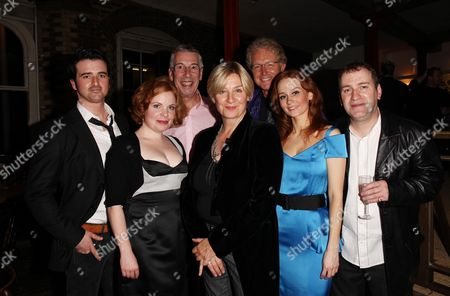 First Night of 'Talent' at the Menier Chocolate Factory London Bridge Eugene O'hare Suzie Toase Mark Hadfield Jeffrey Holland Mark Curry and Leanne Rowe
