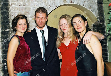 First Night Party For 'Macbeth' at the Adam Street Club Following the First Night at the Albery Theatre St Martins Lane Sean Bean with the 3 Witches Clare Swinburne Alexandra Moen Jayne Mckenna