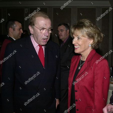 Stock Picture of Foyles 70th Anniversary Lunch at the Grosvenor House Hotel Sir David Frost and Esther Rantzen