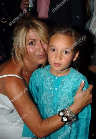 Opening Party of the Frankies Bar & Grill Chiswick High Road West London\mari White with Marco's Goddaughter