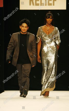 Front Row and Runway at the Fashion For Relief Fashion Show Hosted by Naomi Campbell During London Fashion Week at the Natural History Museum Hrh Prince Haji Abdul Azim of Brunei and Naomi Campbell