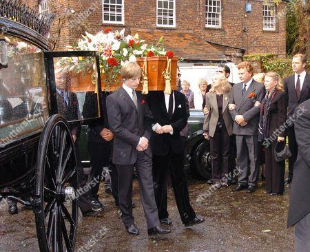 Funeral of Sir John Mills at the Parish Church of St Mary the Virgin Denham Bucks Haley Mills Jonathan Mills & Juliette Mills & Partners