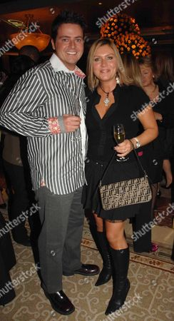 Opening Party of the Gilt Champagne Lounge at the Jumreriah Carlton Tower Hotel Knightsbridge Tricia Penrose with Her Husband Mark Simpkin