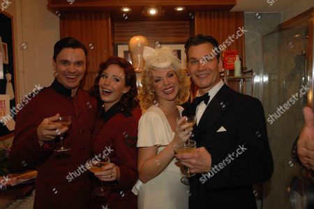 Change of Cast at Guys & Dolls at the Piccadilly Theatre London Norman Bowman ( Sky Masterson) Amy Nuttall ( Sarah Brown) Samantha Janus ( Miss Adelaide) Patrick Swayze ( Nathan Detroit)