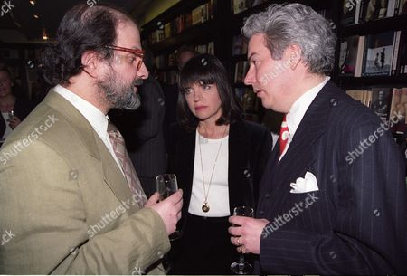 Hatchards Author of the Year Party at Hatchards Book Shop Salman Rushdie with Ken and Barbara Follet