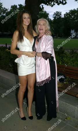 'Hear the World' Photography Exhibition Private View at the Saatchi Gallery Chelsea London Violet ( Lauren ) Budd & Shirley Eaton