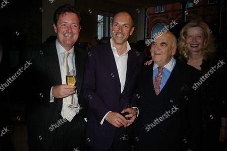 The Launch of Dylan Jones' Ipod Therefore I Am at Asprey New Bond Street London Piers Morgan Dylan Jones & Lord Weidenfeld