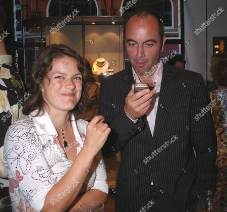 Stock Image of The Launch of Dylan Jones' Ipod Therefore I Am at Asprey New Bond Street London James & Sonya Nesbitt